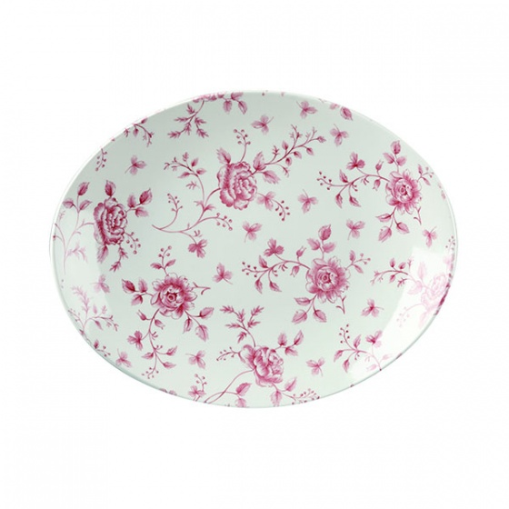 Vintage Print Plate Oval Coupe