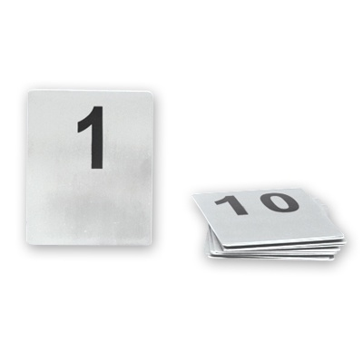 Table Number Set Stainless Steel