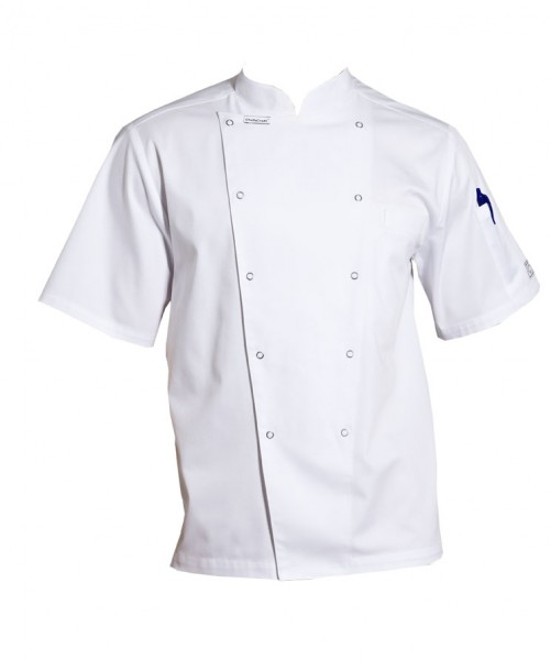 Chefs Jacket Short Sleeve with Pen Pocket and Press Studs